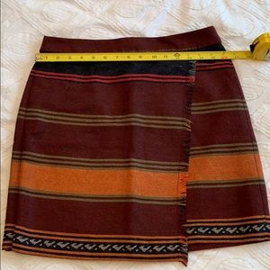 Maroon Striped Skirt from Loft